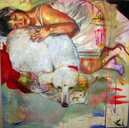 "'Me and Janet Forever' 48"" x 48"" Oil on Canvas 2007"