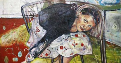 "'Duck and Cover' 42"" x 60"" Mixed Media on Canvas 2006"