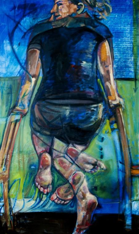 """'Shift' 36"""" x 60"""" Mixed Media on Canvas 2012"""